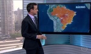 Meteorologia prevê calor para a maior parte do país
