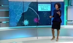 Frente fria passa pelo Sudeste e chega no sul da Bahia nesta quarta-feira (21)