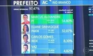 Marcus Alexandre (PT) é eleito prefeito de Rio Branco, no Acre