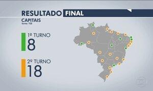 Confira o resultado final das Eleições 2016 nas capitais brasileiras