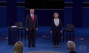 Hillary Clinton e Donald Trump fazem debate nos EUA