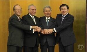 Michel Temer se reúne com primeiro-ministro japonês