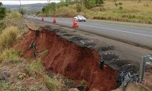 Trecho precário da BR-050 põe em risco a vida dos motoristas