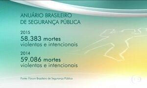 Mais de 158 mil brasileiros foram mortos de forma violenta em 2015, diz estudo