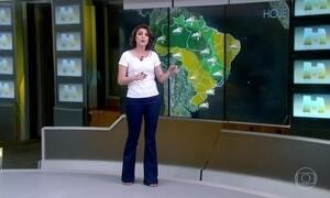 Previsão é de chuva do Amazonas até o RJ