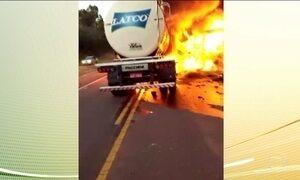 Morre 21ª vítima de acidente entre ônibus e caminhão no Paraná