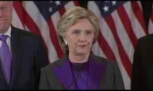 Hillary Clinton discursa pela primeira vez após derrota nas eleições dos EUA