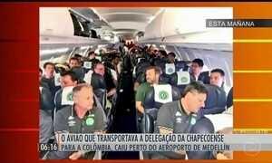Sobreviventes da queda de avião em Medellín são levados para hospitais