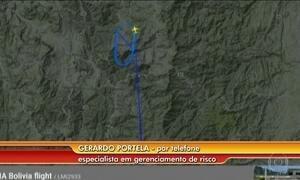 Especialista analisa imagem de radar sobre acidente com avião da Chapecoense