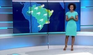 Previsão de temporais isolados em várias partes do país nesta quarta (7)