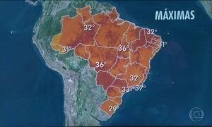 Previsão é de mais calor em boa parte do Brasil