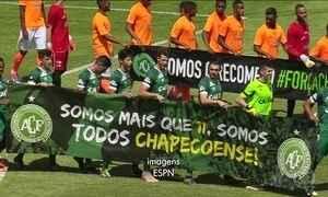 Chapecoense entra em campo pela primeira vez após acidente
