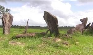 Estrutura feita com grandes rochas no Amapá intriga cientistas