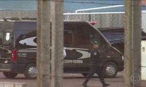Presos transferidos chegam ao presídio federal de Campo Grande
