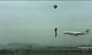 Flagrantes mostram perigo de balões perto do Aeroporto Internacional de SP