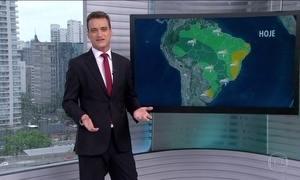 Veja a previsão do tempo para esta terça-feira (17) em todo o Brasil