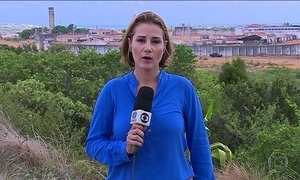 Comboio para transferência de presos chega ao presídio de Alcaçuz (RN)