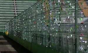 Arena Condá é enfeitada com 15 mil tsurus para o primeiro jogo da Chape depois do acidente