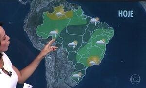 Previsão é de chuva em Mato Grosso, Rondônia, sul do Pará e oeste do Rio Grande do Norte