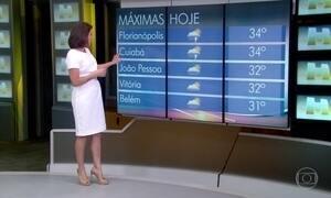 Veja a previsão do tempo para esta sexta (17) e para o fim de semana no Brasil