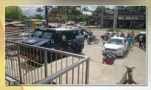 Ladrões tentam roubar carro-forte em Cabo de Santo Agostinho