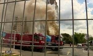 Incêndio destrói hipermercado em Americana (SP)