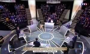 Debate entre candidatos à presidência da França tem discussão acalorada
