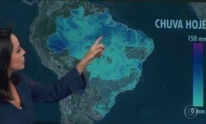 Previsão é de chuva forte no Acre, no Amazonas e no Pará