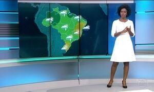 Confira a previsão do tempo para o sábado (25) em todo o país