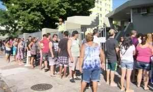 Cariocas enfrentam filas nos postos para se vacinar contra febre amarela