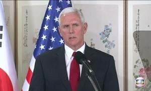 Coreia do Norte testa mais um míssil e o vice-presidente dos EUA faz alerta