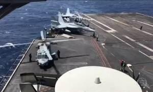 Força naval de ataque dos EUA ainda está bem longe das Coreias