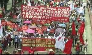 Dia do Trabalho tem protestos no Brasil e em vários países na Ásia