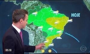 Confira a previsão do tempo para a segunda-feira (15)