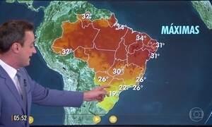 Confira a previsão do tempo para a terça-feira (16)