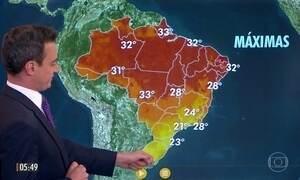 Confira a previsão do tempo para a quarta-feira (17)