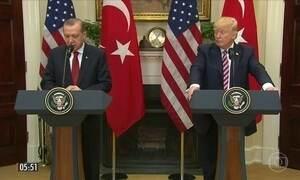 Presidentes dos EUA e da Turquia fazem discursos positivos em encontro em Washington