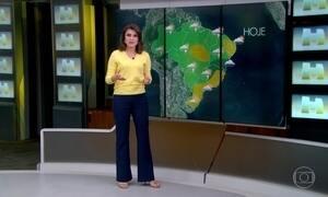 Pancadas de chuva podem ocorrer no oeste da região Sul e na região Centro-Oeste