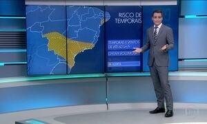 Previsão é de chuva em várias partes do Brasil no domingo (20)