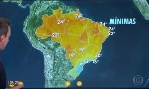 Confira a previsão do tempo para a terça-feira (23)