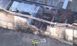Primeira operação na Cracolândia derruba parede de casa com moradores dentro