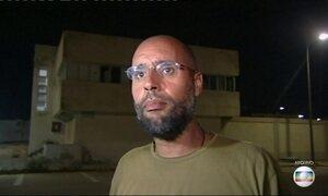 Grupo armado líbio liberta filho de Kadhafi, que estava preso desde 2011