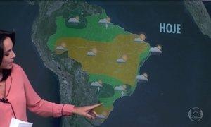 Tempo fica instável entre Mato Grosso do Sul, Paraná e o Sudeste