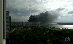 Incêndio atinge obra de estádio que terá partidas na Copa da Rússia