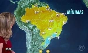 Confira a previsão do tempo para a quinta-feira (15)