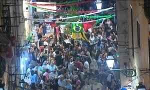 Tradição dos arraiás é herança de Portugal, onde junho também é animado
