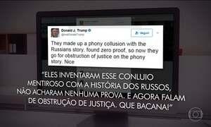 Trump ironiza as investigações contra ele sobre as ligações com a Rússia