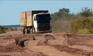 Estradas para escoar a ótima safra de grãos do Piauí estão precárias