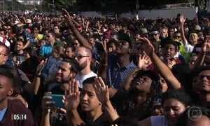 Marcha para Jesus reúne multidão de fiéis em SP