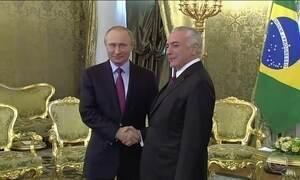 Temer evita falar de crise política em segundo dia de visita oficial à Rússia
